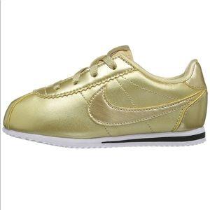 Gold Nike Cortez - Kids